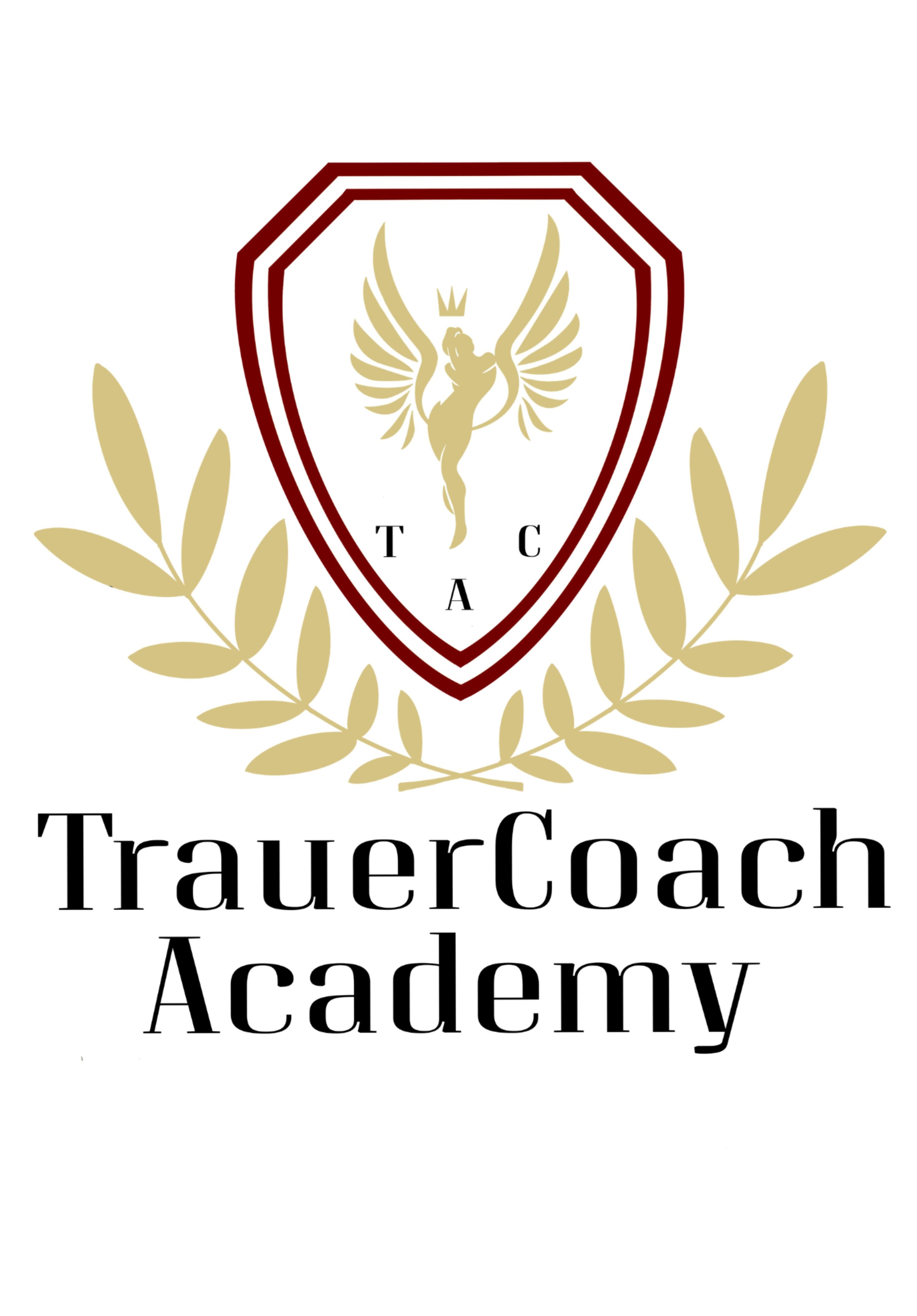 Logo der TrauerCoach Academy in der du lernst anderen beim Abschied nehmen und der Trauerverarbeitung zu begleiten.